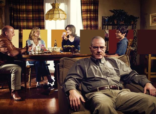 O suspense é transmitido pelos tons sóbrios da sala de Walter White, em Breaking Bad (Foto: Neomam Studios/ Reprodução)