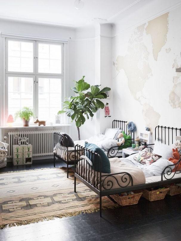 Decoração infantil: 8 quartos com mapa múndi (Foto: Divulgação)