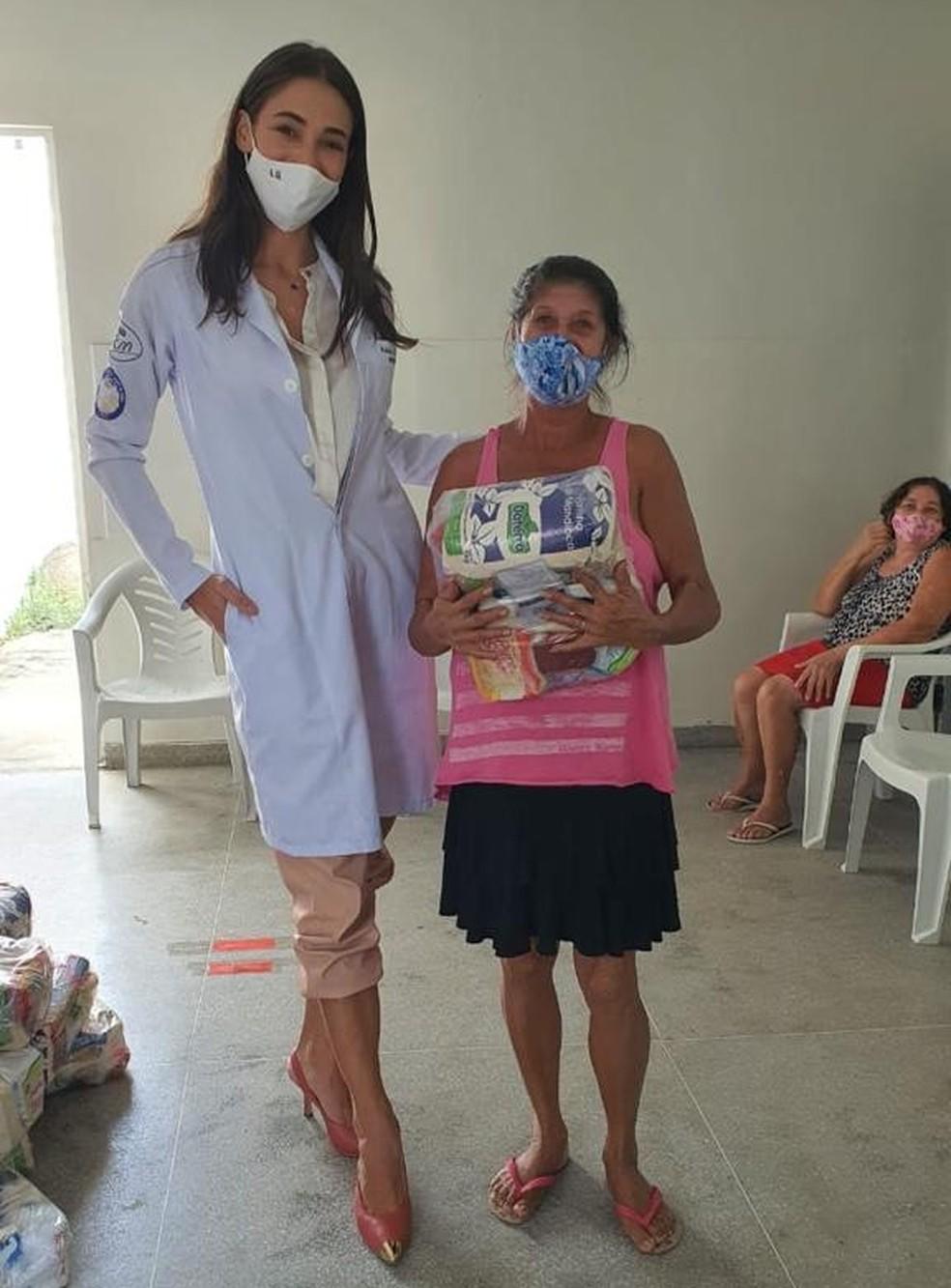 Lalá Guedes, além de Miss Brasil, também é estudante de medicina — Foto: LV Assessoria/Divulgação
