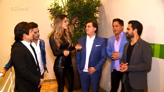 Grupo 'Amigos' fala sobre a emoção de se apresentar no 'Domingão' pela primeira vez