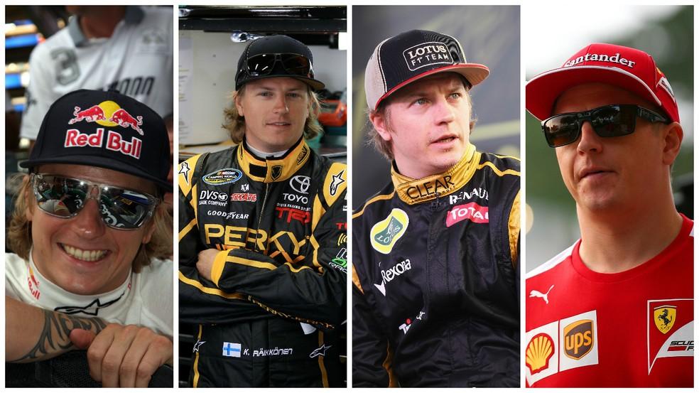 """Kimi Raikkonen O """"Homem de Gelo"""" no rally (2010) e na Nascar (2011), e de volta à F-1, na Lotus (2012) e na Ferrari (2014) (Foto: Getty Images)"""