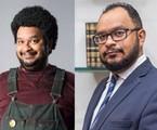 Haroldo Guimarães em 'Cine Holliúdy' e no seu trabalho como advogado | TV Globo - Reprodução/Instagram