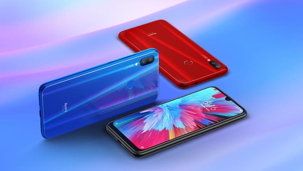 Xiaomi Redmi Note 7: celular pode ser encontrado no exterior por US$ 150. — Foto: Divulgação/Xiaomi