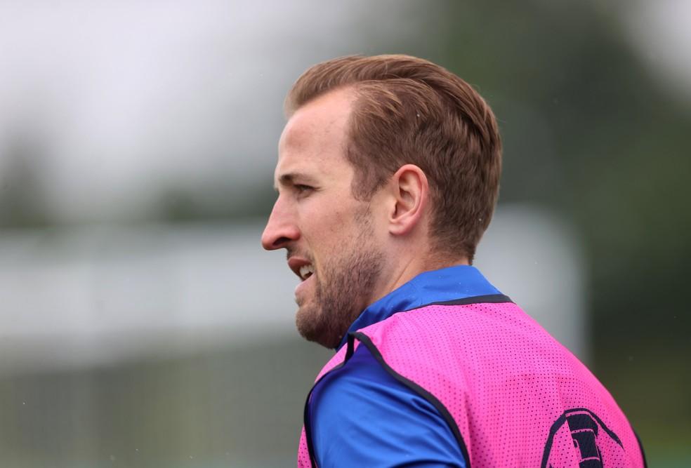 Candidato a artilheiro, Harry Kane ainda não balançou as redes na Eurocopa-2020 — Foto: Reuters