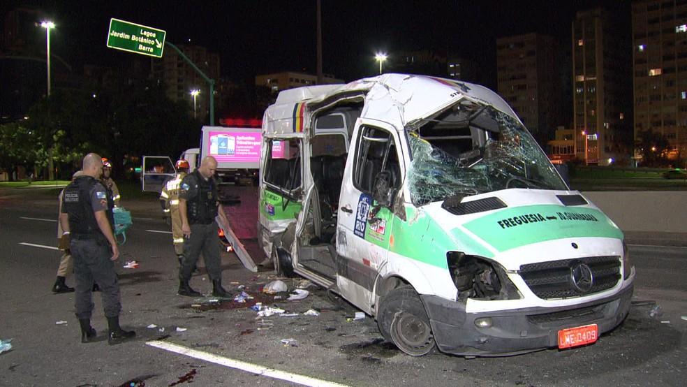 Vítimas foram levadas para o Hospital Miguel Couto, na Zona Sul do Rio — Foto: Reprodução / TV Globo