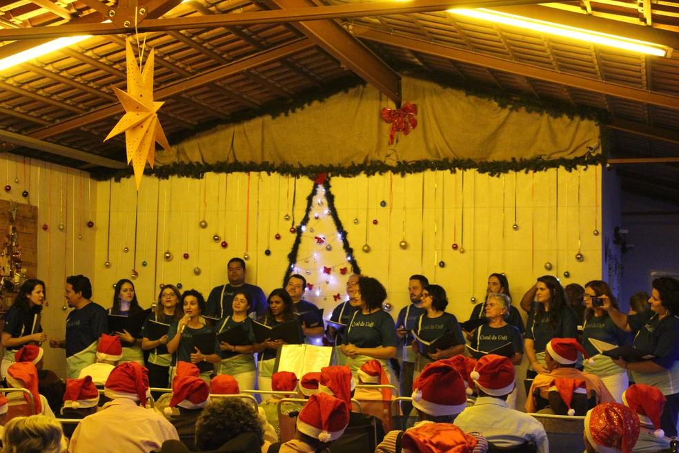 Cantata no Lar dos Velhinhos, em Sobradinho DF — Foto: Divulgação