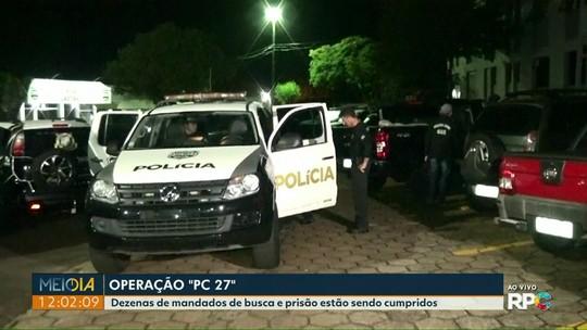 Polícia Civil faz grande operação em várias cidades do Paraná