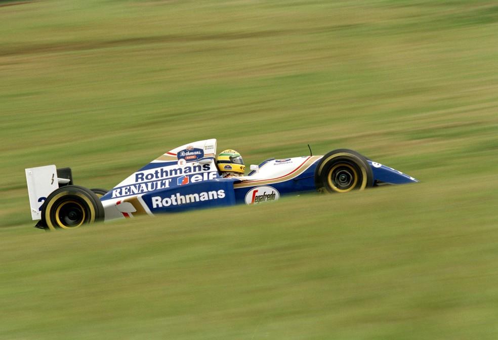 Senna marcou pole nas três corridas que disputou em 1994 — Foto: Getty Images