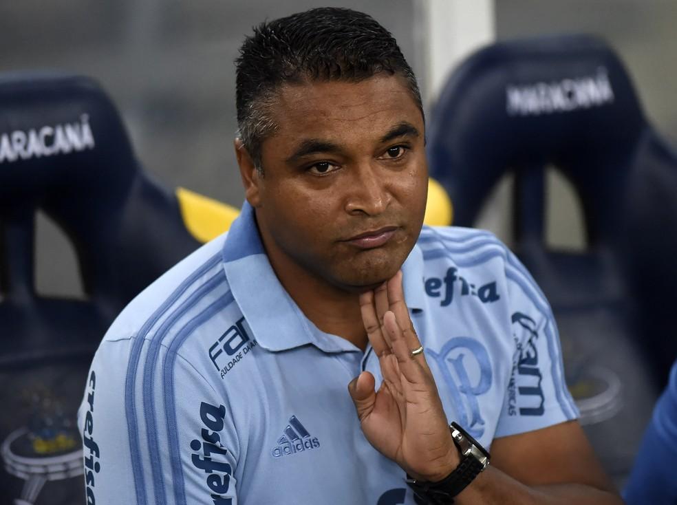 Roger Machado, durante a partida do Maracanã (Foto: André Durão)