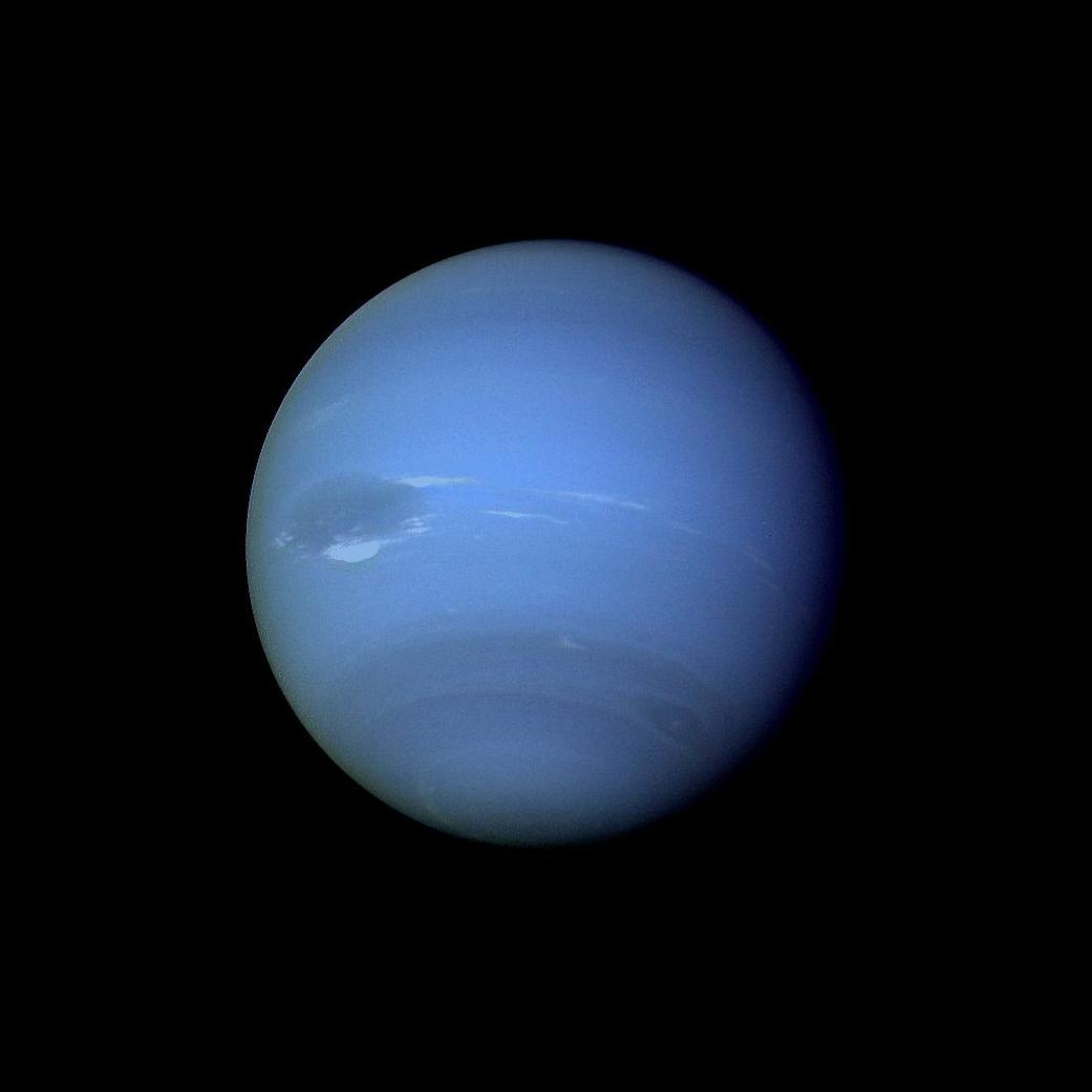 Foto de Netuno feita pela Voyager 2 (Foto: Nasa)