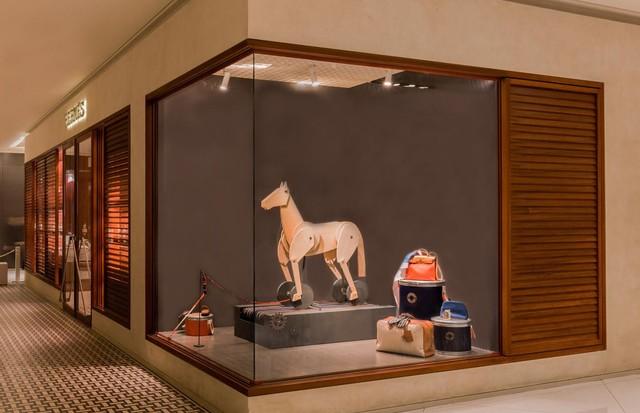 A vitrine da Hermès no Shopping Iguatemi (Foto: Divulgação)