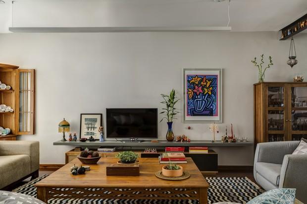 Casa de vila: cores e aconchego em 155 m² (Foto: FOTOS EDU CASTELLO)