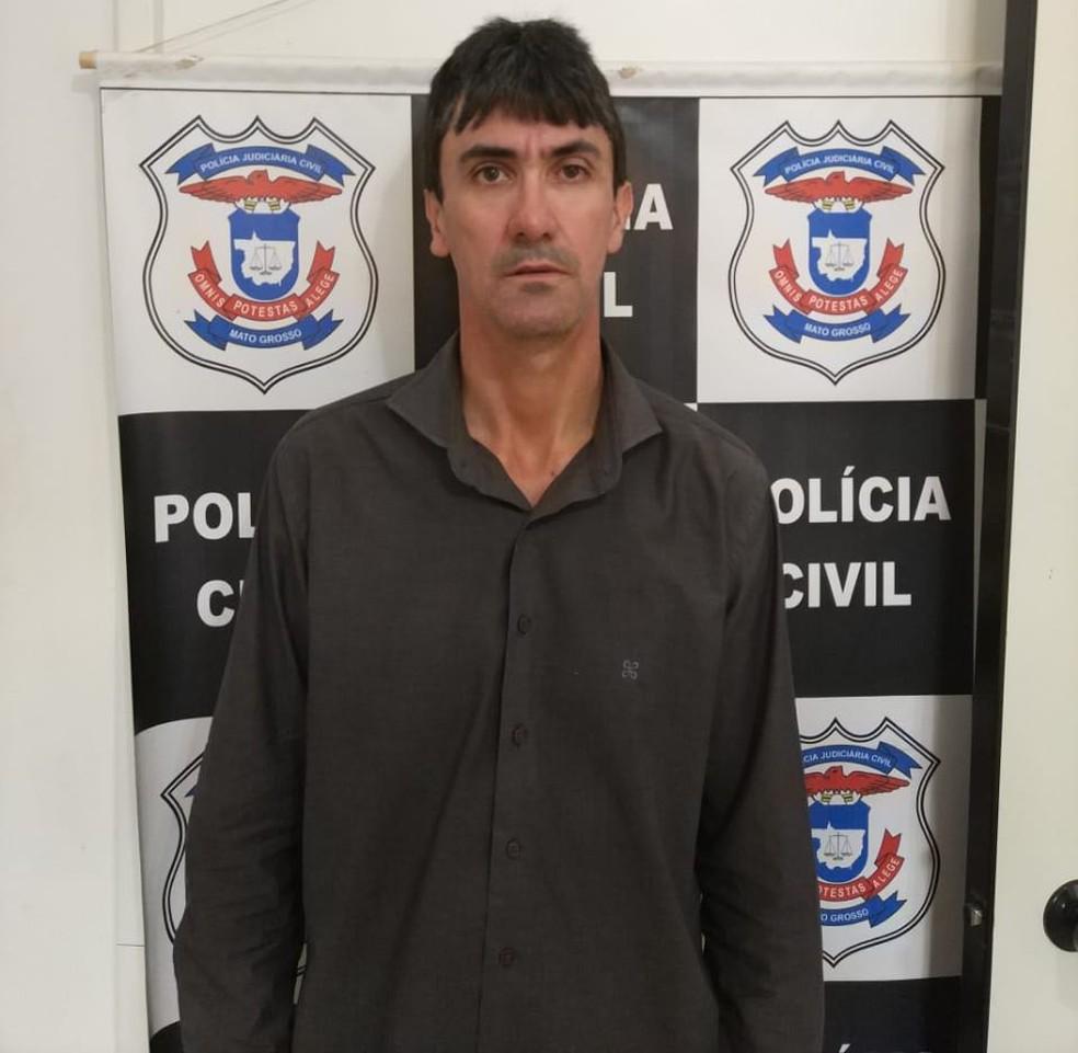 Nivaldo Francisco Rodrigues está preso desde junho e negou os crimes (Foto: Polícia Civil de MT)