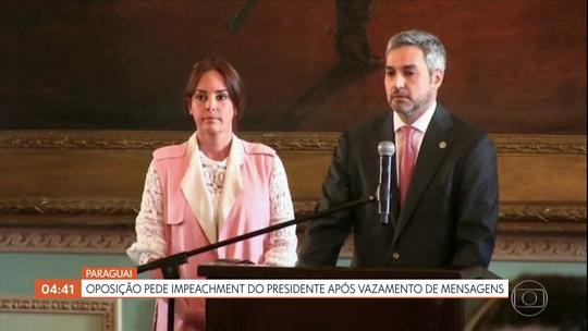 Oposição do Paraguai pede impeachment do presidente após vazamento de mensagens