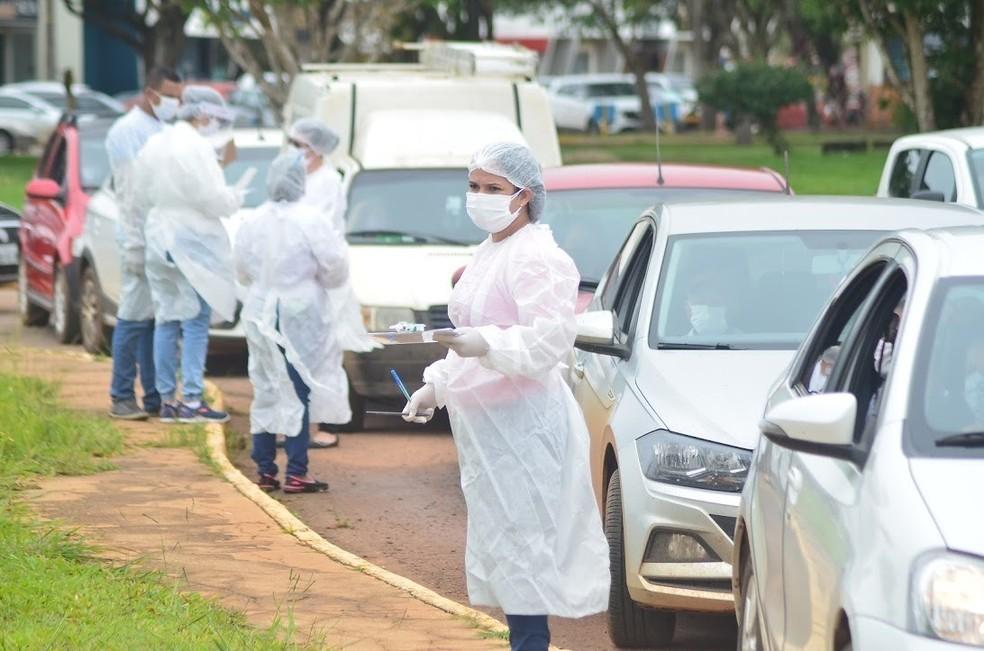 Fila para vacinação contra Covid-19 em Vilhena (RO) — Foto: Prefeitura de Vilhena/Divulgação