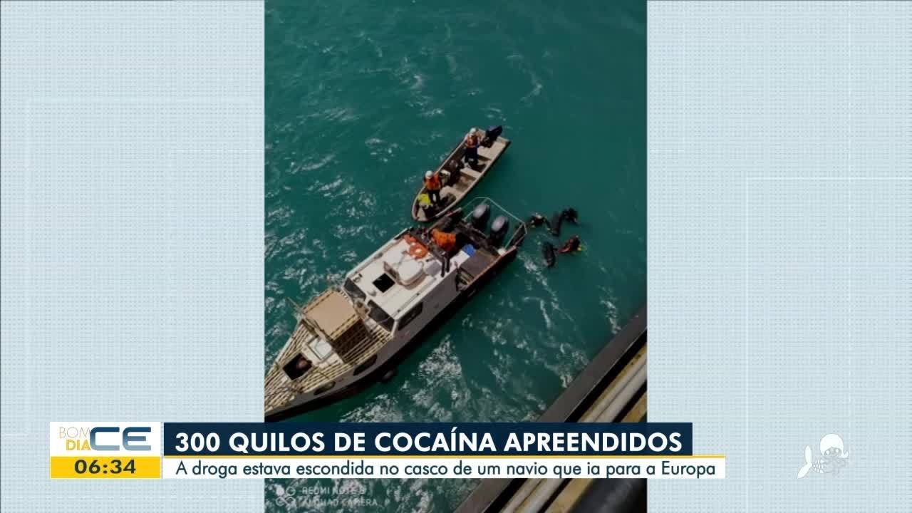 300 kg de cocaína são apreendidos no Porto do Pecém