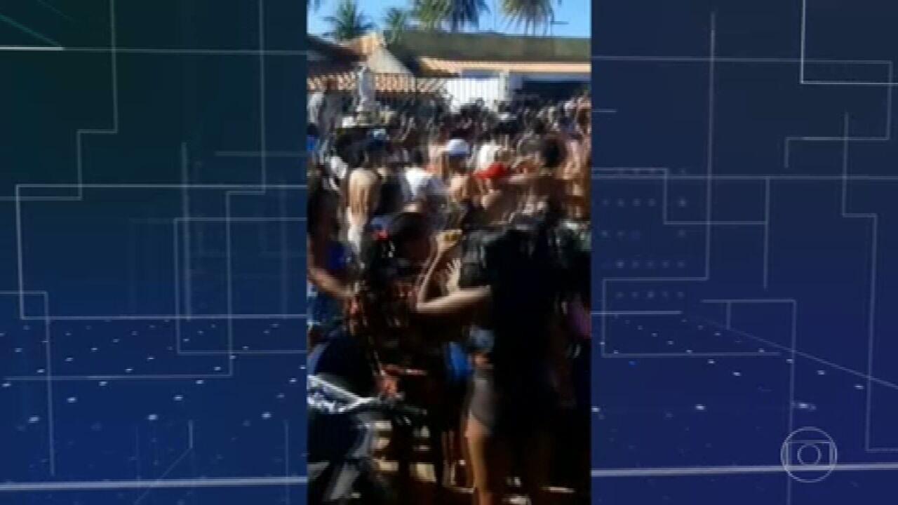 Festas provocam aglomeração na região metropolitana de Salvador