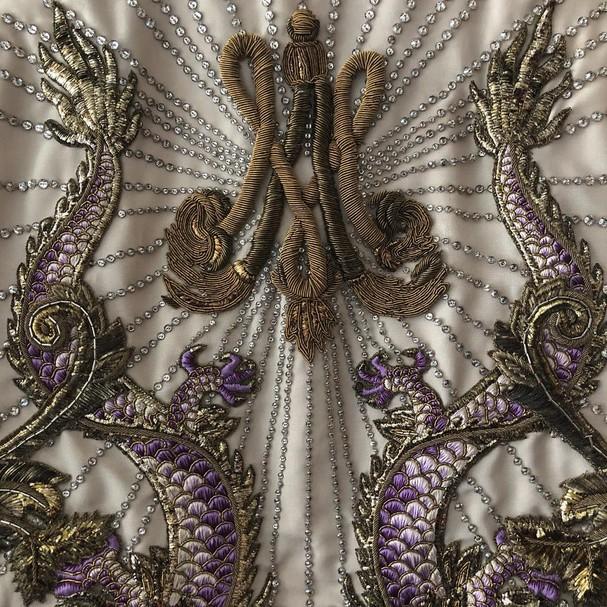 Detalhe de roupa da Gucci para o Met Gala (Foto: Reprodução Instagram)
