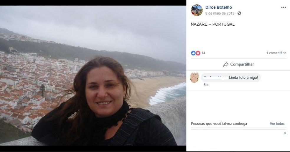 Dircelene Botelho, de 51 anos, morreu asfixiada em Petrópolis, RJ; filha e namorado são suspeitos — Foto: Reprodução/Facebook