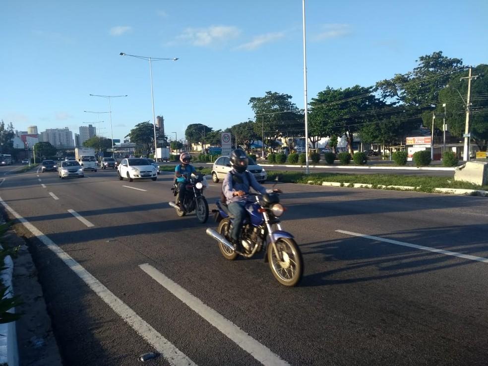 90% dos municípios do RN têm mais motos do que carros nas ruas (Foto: Lucas Cortez/G1)