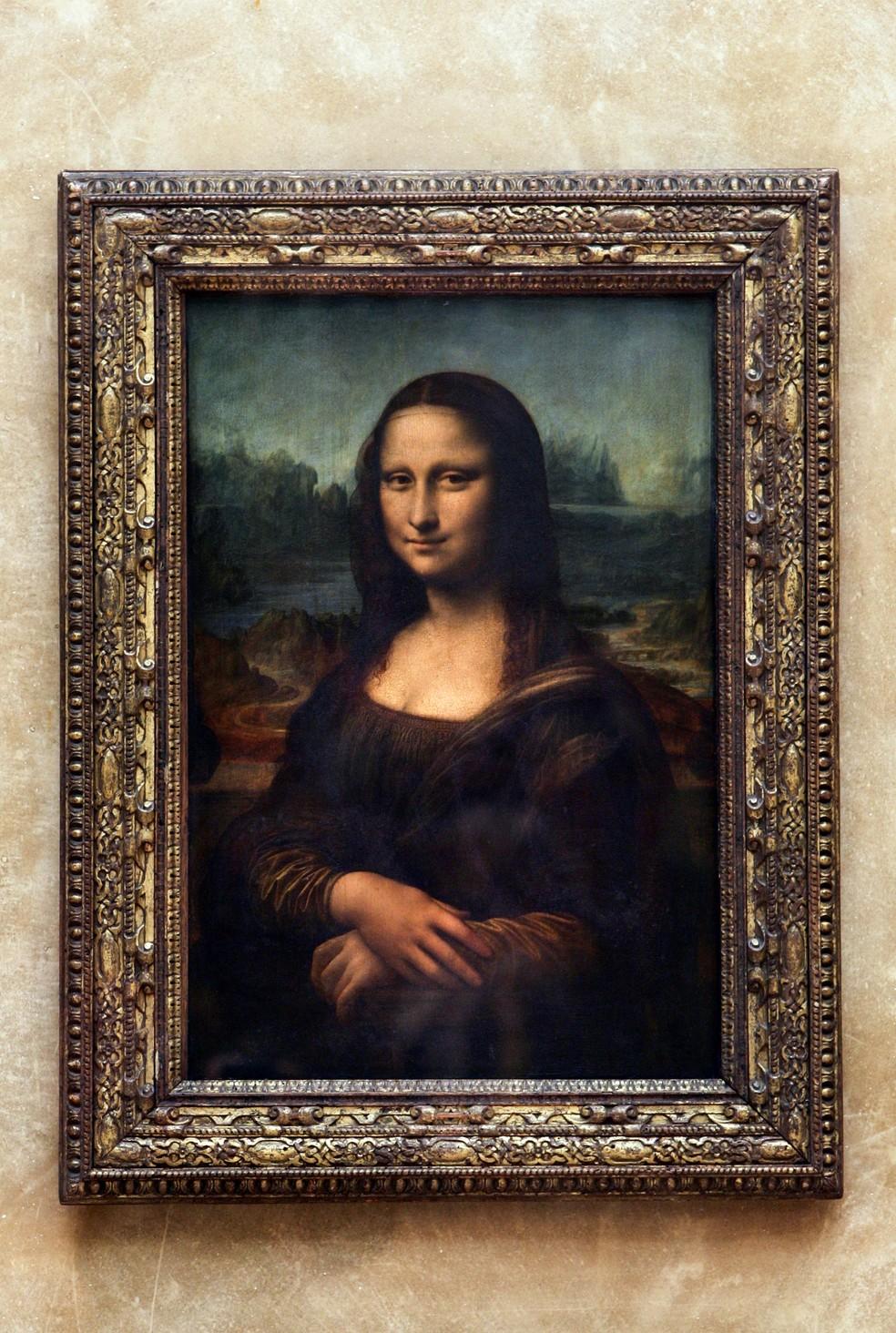 Mona Lisa será deslocada no Louvre até outubro para reforma em sala — Foto: JEAN-PIERRE MULLER / AFP