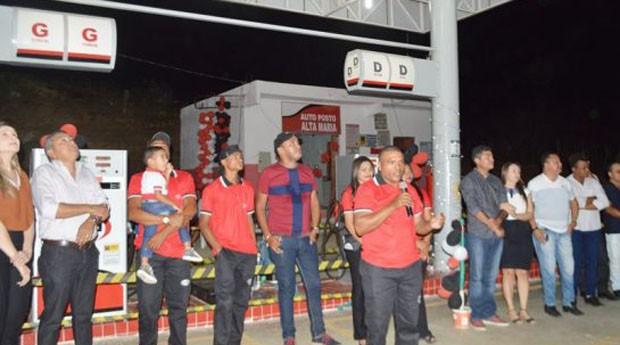 Inauguração do posto (Foto: Reprodução)