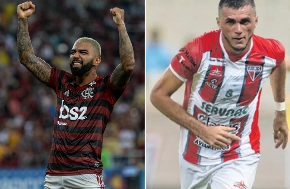Gabigol e Edson Cariús são os artilheiros do Brasil em 2019 — Foto: GloboEsporte.com