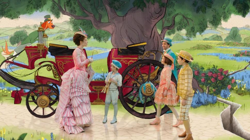 Ilustrações no filme O Retorno de Mary Poppins (Foto: Divulgação)