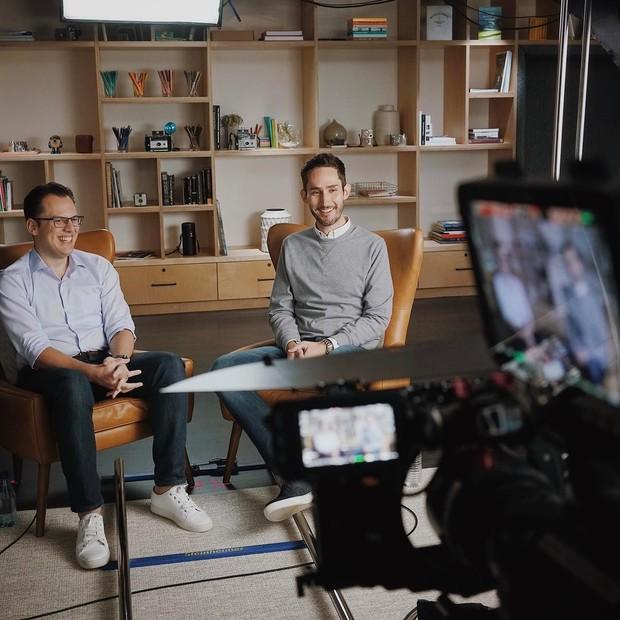 Mike Krieger e Kevin Systrom (Foto: Reprodução / Instagram @kevin)