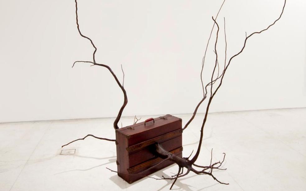Obra 'Effugium', de José Rufino, na exposição 'Contraponto', no Museu Nacional da República em Brasília (Foto: José Rufino/Arquivo pessoal)
