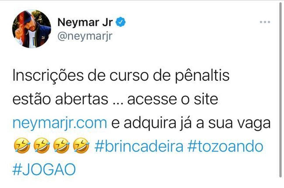 Neymar Supercopa Flamengo Palmeiras — Foto: REPRODUÇÃO