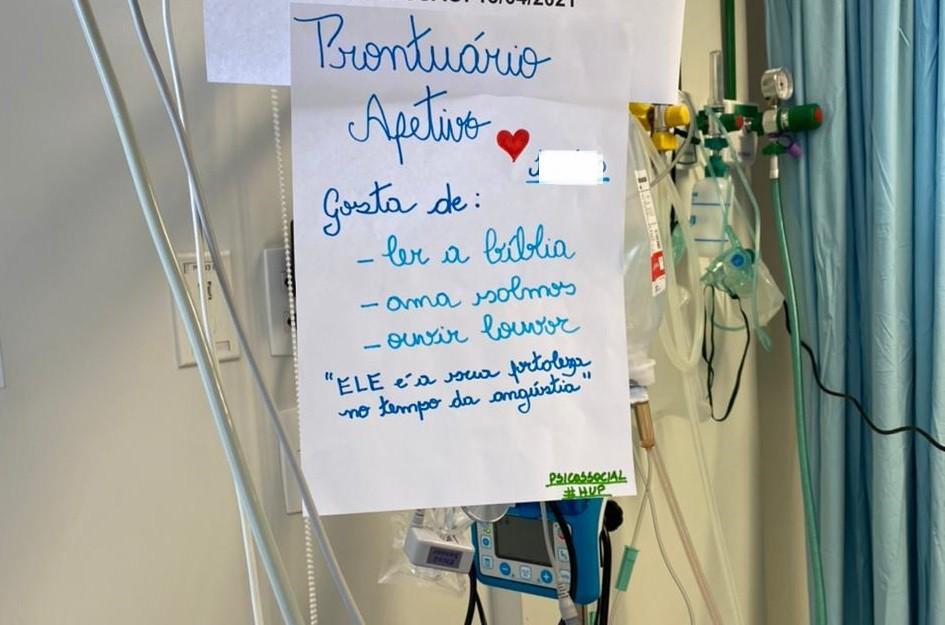 Hospital usa 'prontuário afetivo' para acolher pacientes internados com Covid-19 no Piauí