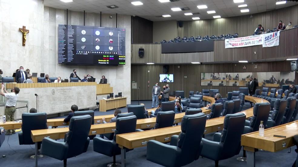 Câmara de SP aprovou nesta quarta (23) reajuste salarial para o prefeito, o vice e os secretários — Foto: Reprodução/TV Globo