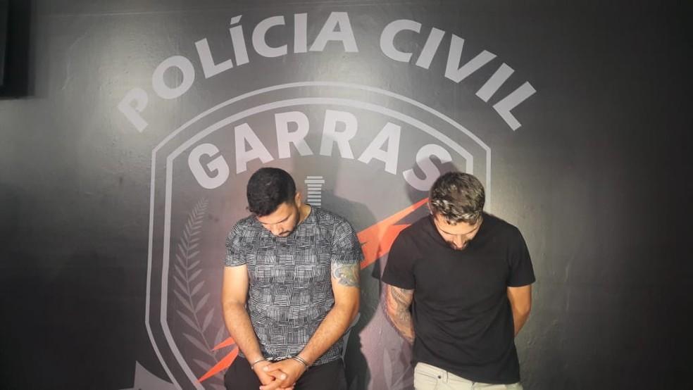 A dupla foi presa em São Paulo, suspeitos de danificar caixas eletrônicos e furtar envelopes com dinheiro aqui na capital./ — Foto: LauraToledo/Tv Morena