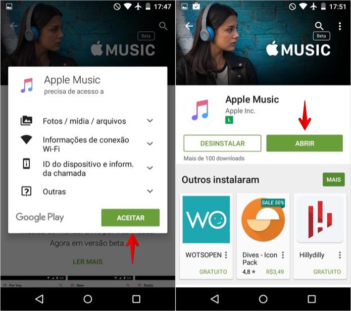 Confirme a instalação do app (Foto: Reprodução/Helito Bijora)