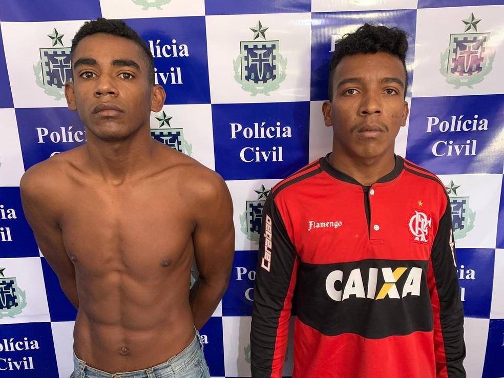 Dois irmãos são presos suspeitos de espancar e matar idoso após discussão no norte da Bahia — Foto: Divulgação/SSP-BA
