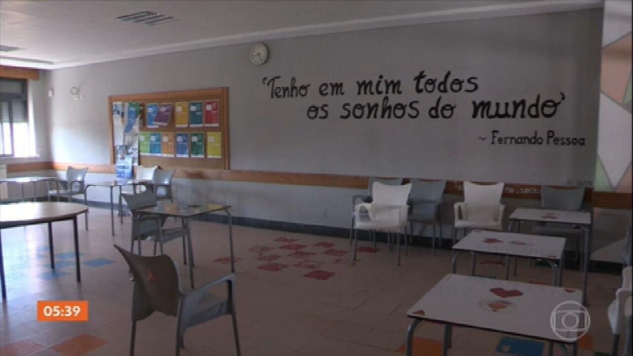 Milhares de crianças voltam ao ensino presencial em Portugal