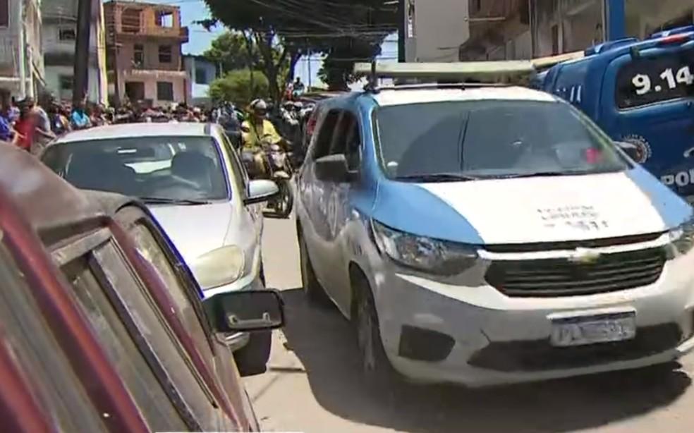 Caso ocorreu no bairro de Boa Vista do Lobato, em Salvador — Foto: Reprodução/TV Bahia
