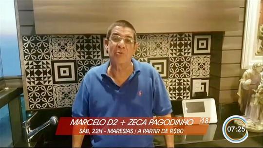 Chitãozinho e Xororó, Marcelo D2 e Zeca Pagodinho são atrações do fim de semana