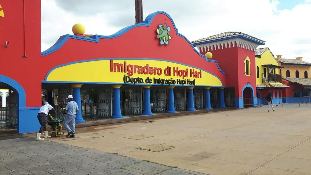 Hopi Hari é reaberto para convidados após 2 meses fechado (Foto: Luciano Calafiori / G1)