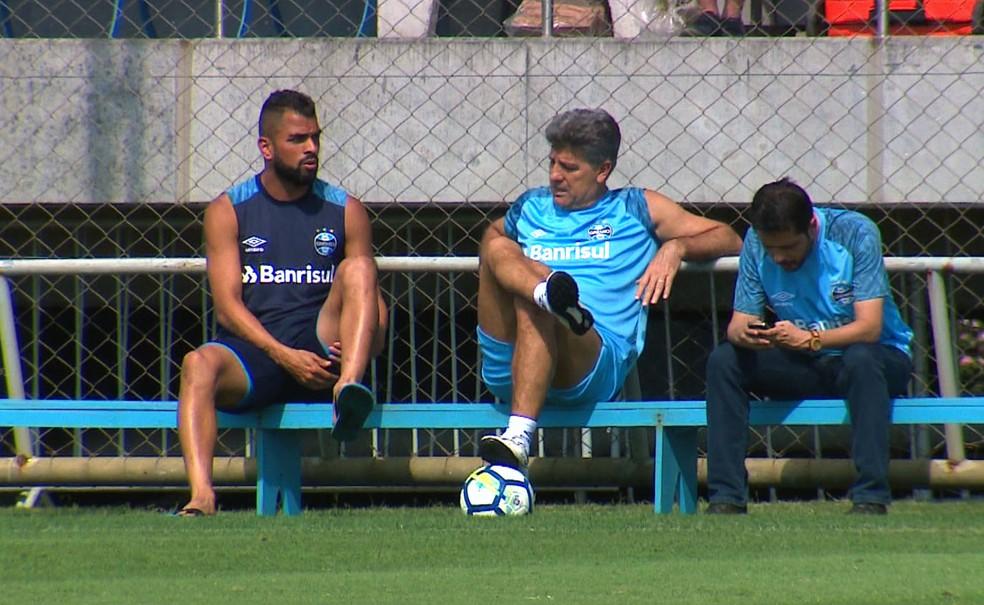 Maicon é mais um desfalque para o Grêmio neste domingo — Foto: Reprodução
