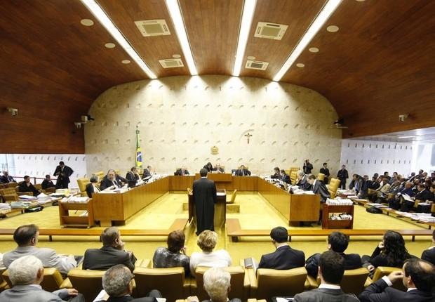 Plenário do Supremo Tribunal Federal (TSJ), em Brasília (Foto: Wikimedia Commons/Wikipedia)