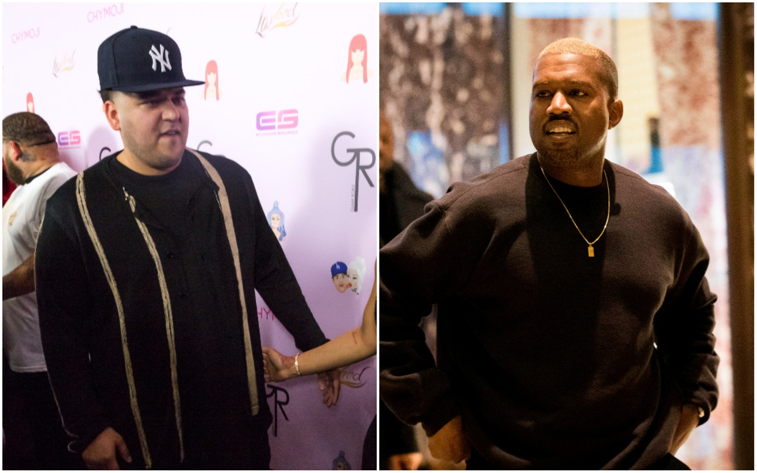 Rob Kardashian e Kanye West (Foto: Getty Images)