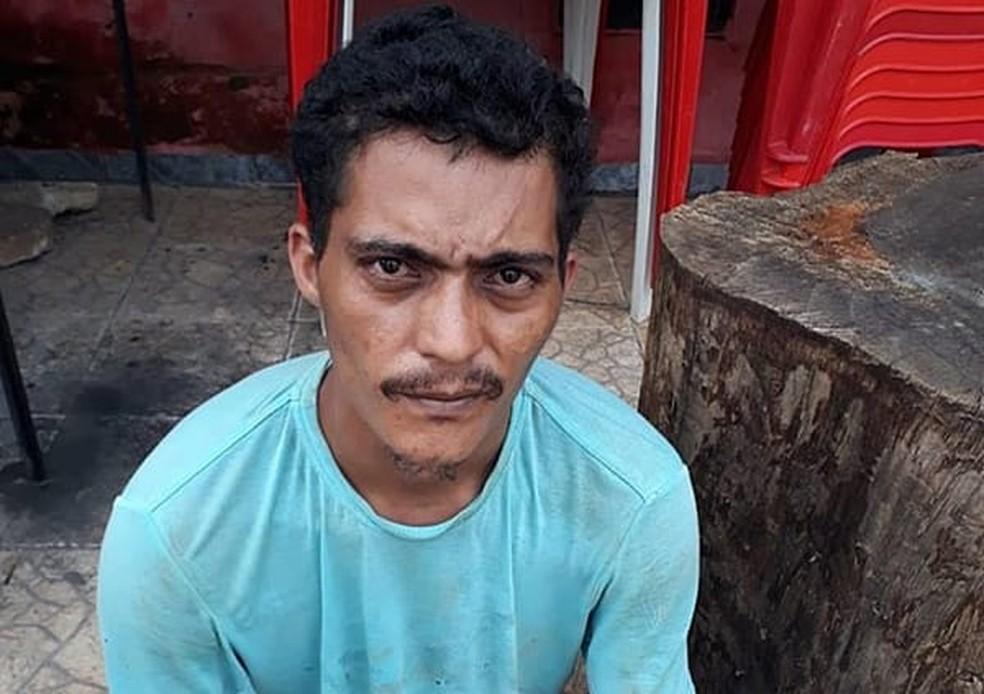 Felipe do Nascimento Araújo foi preso por suspeita de matar um homem por causa de R$ 2 em Açailândia, no ano passado — Foto: Divulgação/Polícia Civil