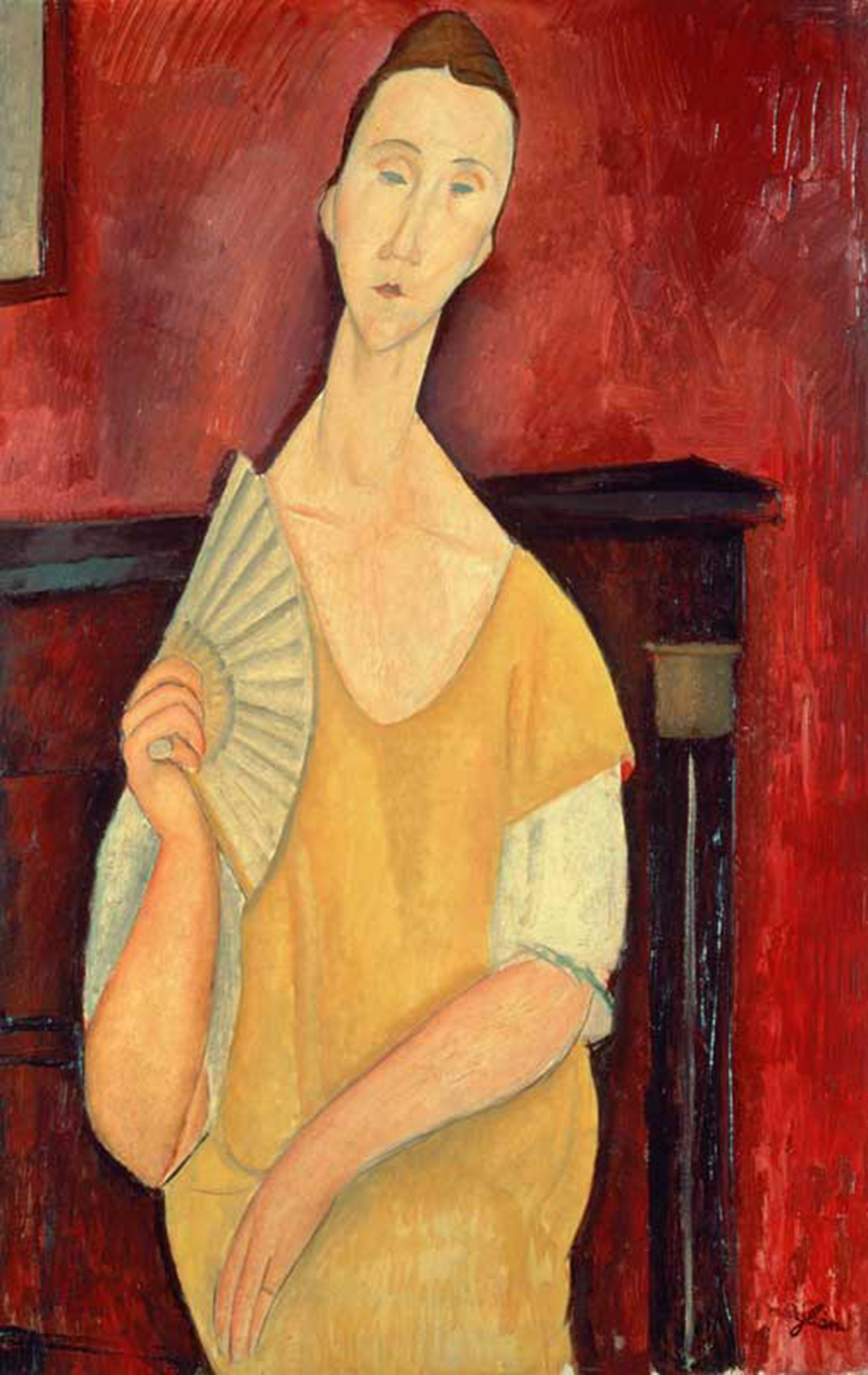 XIR96791   Credit: Woman with a Fan (Lunia Czechowska) 1919 (oil on canvas) by Modigliani, Amedeo (1884-1920)  Musee d'Art Moderne de la Ville de Paris, Paris, France/ Giraudon/ The Bridgeman Art Library  Nationality / copyright status: Italian / out of c (Foto: Reprodução)
