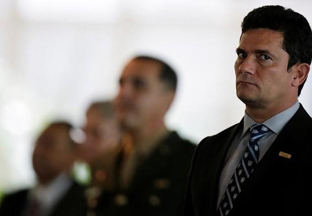 Juiz federal Sérgio Moro durante cerimônia em Brasília (Foto: Ueslei Marcelino/Reuters)