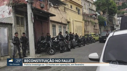 Polícia e Ministério Público fazer reconstituição de operação ma comunidade do Fallet