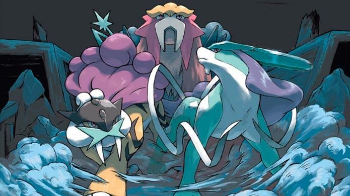 Raikou, Entei e Suicune aparecem em diferentes horários do dia (Foto: Bulbapedia)
