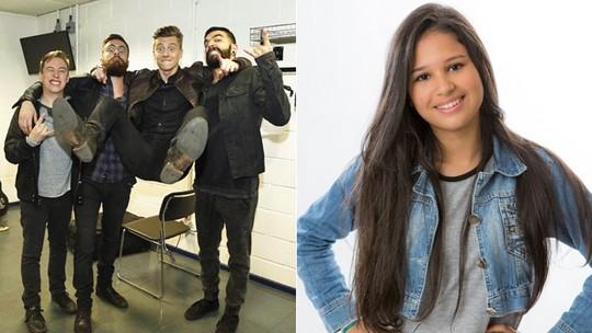 Scalene aprova versão de 'Amanheceu' cantada no 'The Voice Kids' e Ystefani vibra com recado: 'Que lindo'