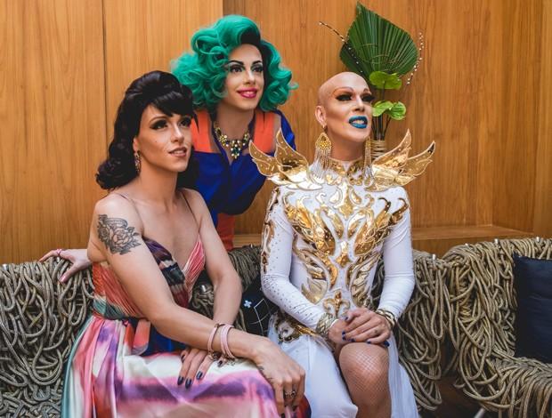 Rita Von Hunty, Penelopy Jean e Ikaro Kadoshi (Foto: Filipa Andreia/Divulgação)